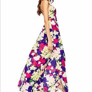 Yumi Kim Open Back Silk Maxi Dress in Orchard